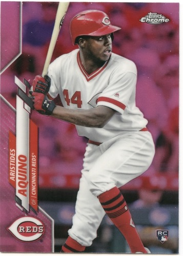 Photo of 2020 Topps Chrome Pink Refractors #111 Aristides Aquino