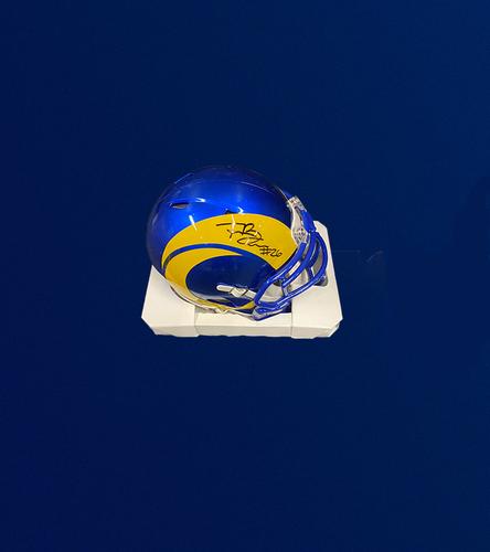 Photo of Terrell Burgess Signed Mini-Helmet