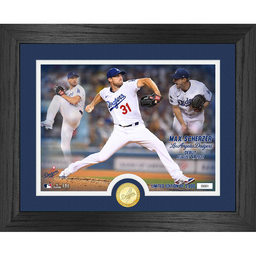 Photo of Max Scherzer Dodgers Debut Game Bronze Coin Photo Mint LE