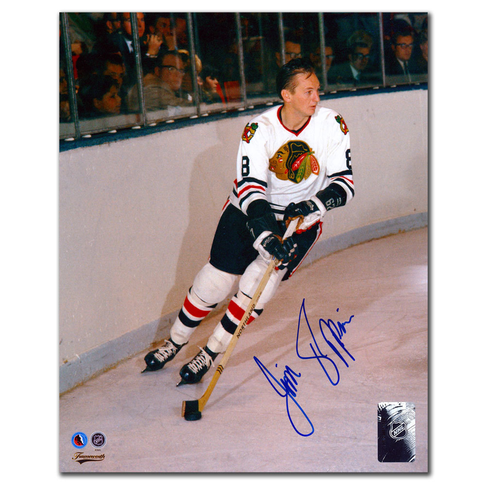 Jim Pappin Chicago Blackhawks BREAKOUT Autographed 8x10