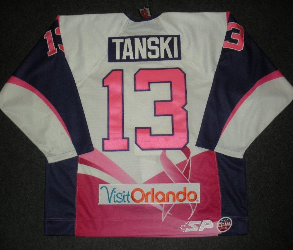 Scott Tanski - Orlando Solar Bears - Hockey Fights Cancer Game-Worn Jersey