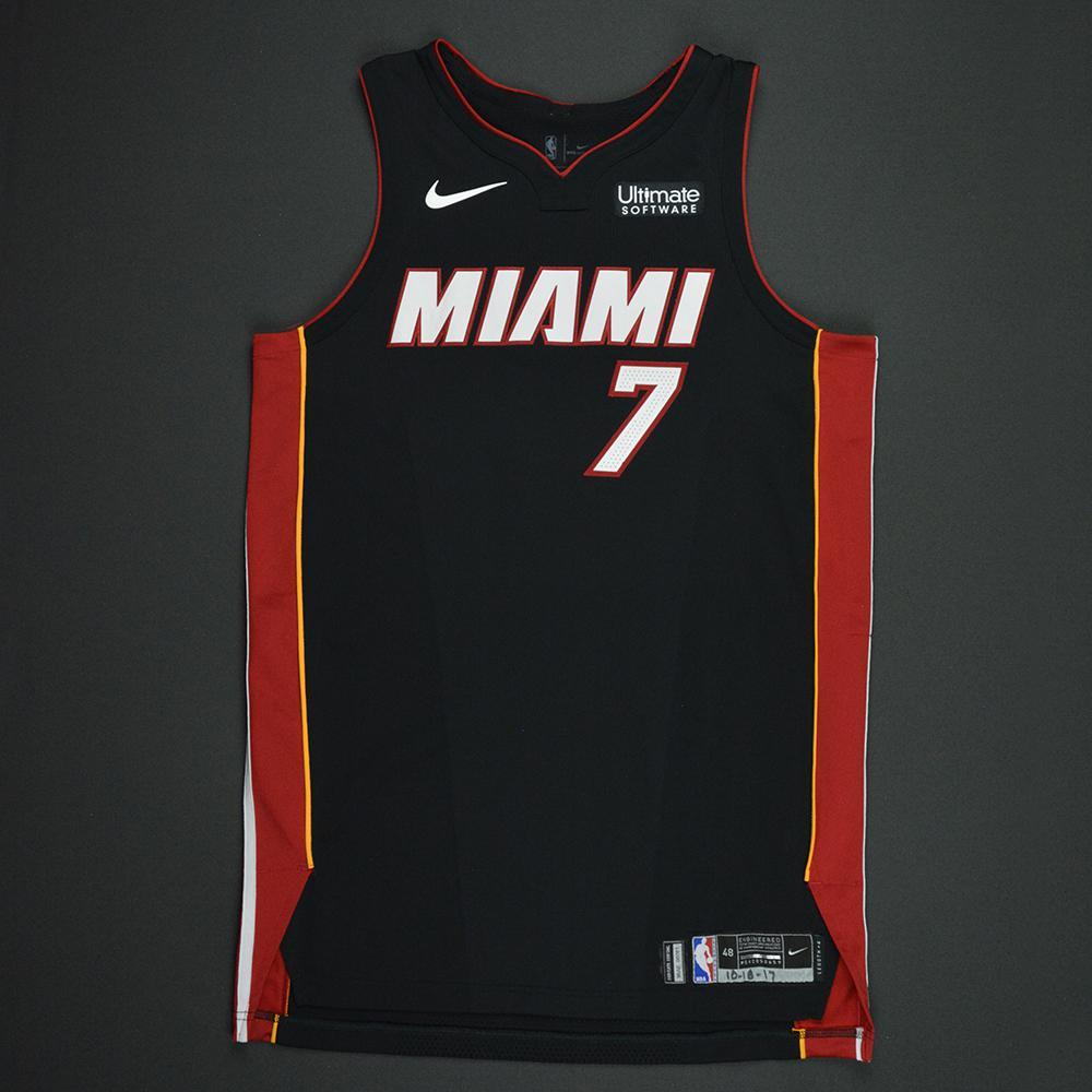 sale retailer 893b6 c61a3 Goran Dragic - Miami Heat - Kia NBA Tip-Off 2017 - Game-Worn ...