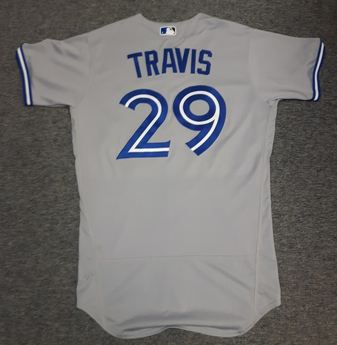 Photo of Authenticated Game Used Jersey - #29 Devon Travis (April 6, 2017). Size 42
