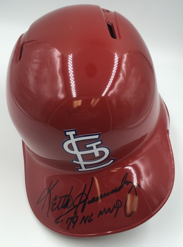 "Photo of Keith Hernandez ""79 NL MVP"" Autographed Cardinals Helmet"