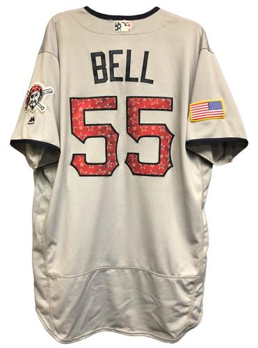 Photo of Josh Bell Game-Used Stars & Stripes Jersey