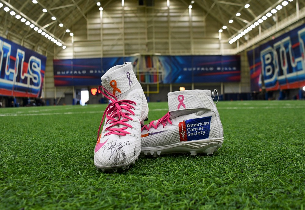 MY CAUSE MY CLEATS - PATRICK DiMARCO SIGNED GAME WORN CUSTOM CLEATS