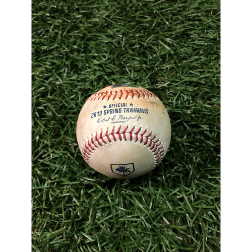 Photo of Spring Training Game Used Baseball: Ryne Stanek strikes out Clint Frazier - February 24, 2019 v NYY