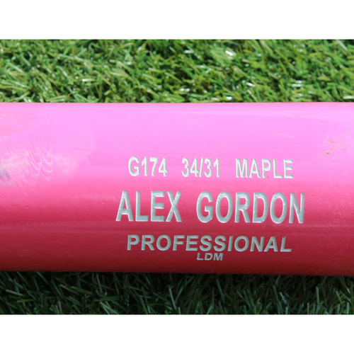 Photo of Game-Used Bat: Drew Butera Swinging Strikeout (Alex Gordon Model - KC @ CLE - 5/13/18)