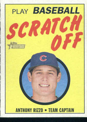 Photo of 2019 Topps Heritage '70 Topps Scratch Offs #8 Anthony Rizzo