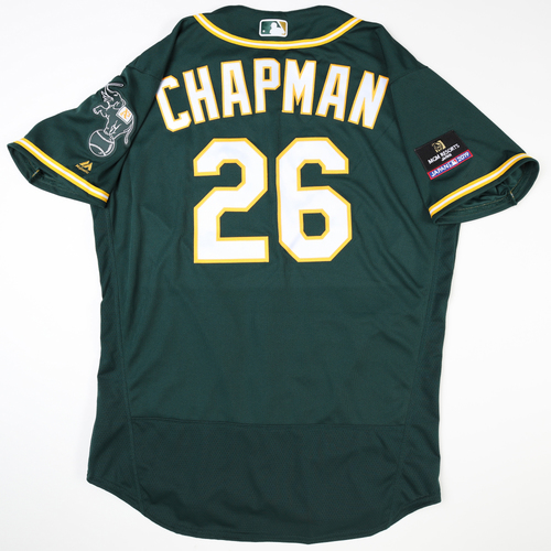 Photo of 2019 Japan Opening Day Series - Game Used Jersey - Matt Chapman, Oakland Athletics at Nippon Ham Fighters -3/17/2019