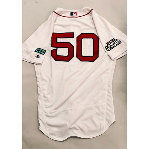 sale retailer 3afec fe6da Red Sox Auctions | 2019 London Series - Game-Used Jersey ...