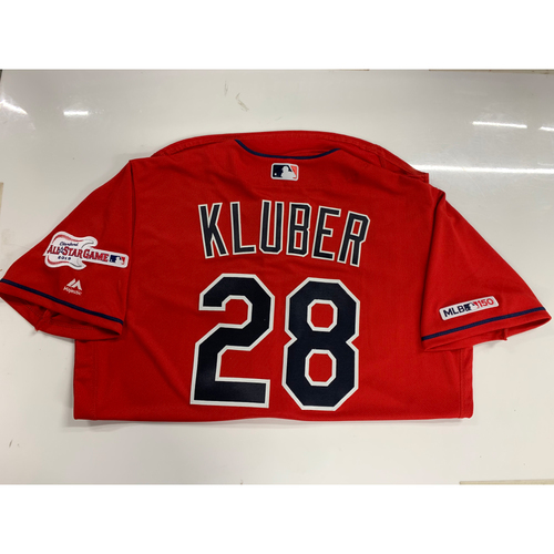Corey Kluber 2019 Team Issued Alternate Home Jersey with ASG Patch