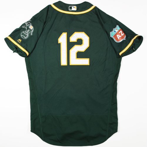 Photo of 2016 Spring Training - Spring Training Game Used Jersey - Max Muncy (Athletics)- Size- 46