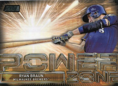 Photo of 2017 Stadium Club Power Zone #PZRB Ryan Braun