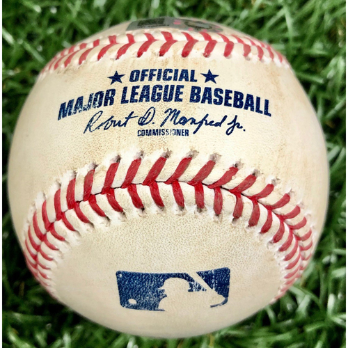 Photo of Game Used Baseball: Yan Gomes single off Ryan Thompson - September 16, 2020 v WSH