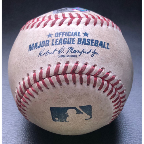 Photo of Game-Used Baseball: Batter: Charlie Blackmon (Home Run), Pitcher: Yohan Ramirez - Top of 8th (COL @ SEA - 8/7/2020)