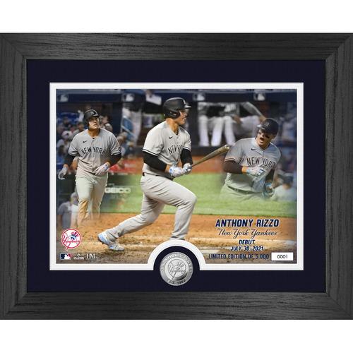 Photo of Anthony Rizzo Yankees Debut Game Silver Coin Photo Mint