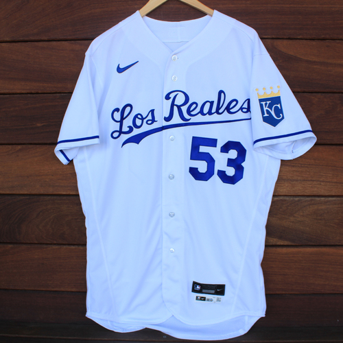 Photo of Game-Used Los Reales Jersey: Tyler Zuber #53 (SEA@KC 9/17/21) - Size 44