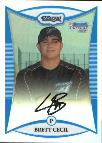 Photo of 2008 Bowman Chrome Prospects Refractors #BCP178 Brett Cecil