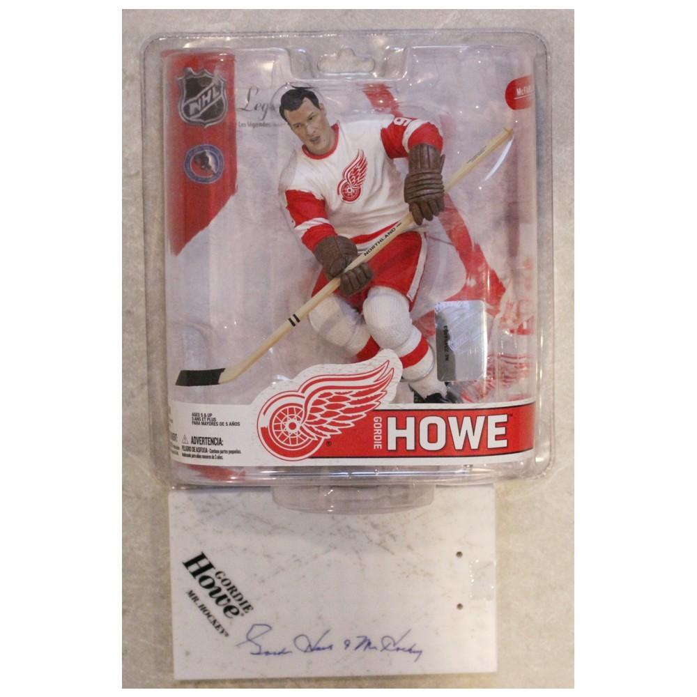 Gordie Howe Autographed Detroit Red Wings McFARLANE Figurine