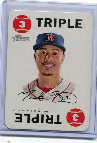Photo of 2017 Topps Heritage Topps Game #19 Mookie Betts -- Red Sox post-season