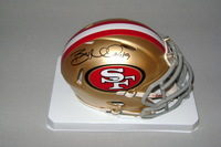 49ERS - BRUCE MILLER SIGNED 49ERS MINI HELMET (SMUDGE ON SIGNATURE)