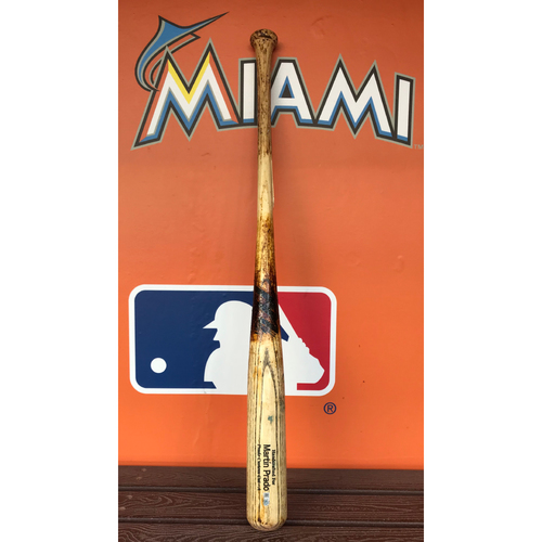 Photo of Game-Used Broken Bat: Martin Prado