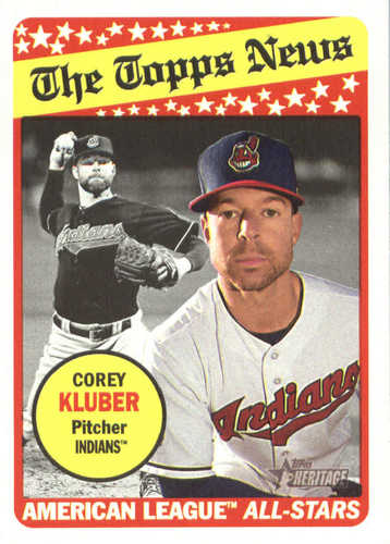 Photo of 2018 Topps Heritage #238 Corey Kluber