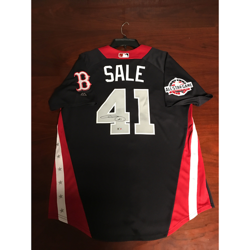 Photo of Chris Sale 2018 Major League Baseball Workout Day Autographed Jersey