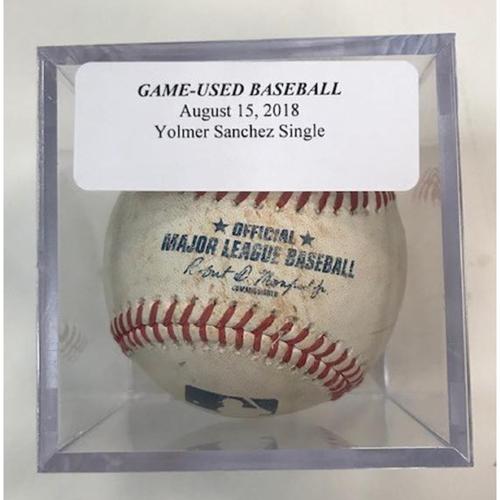 Photo of Game-Used Baseball: Yolmer Sanchez Single