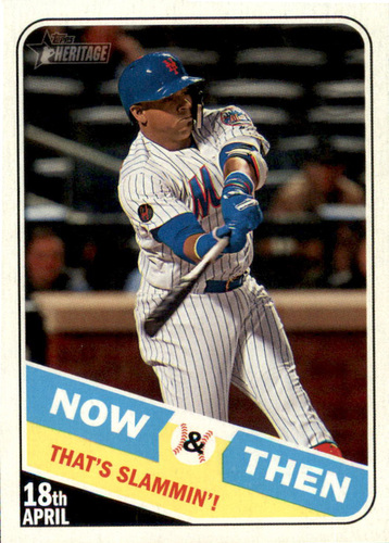 Photo of 2018 Topps Heritage Now and Then #NT10 Yoenis Cespedes