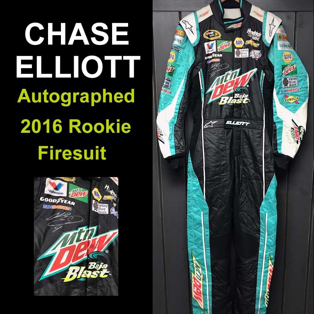 Autographed Chase Elliott Rookie Firesuit
