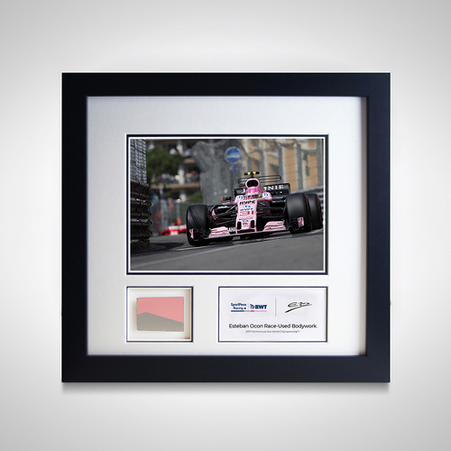 Photo of Esteban Ocon 2017 Monaco Grand Prix Photo and Piece of Car Bodywork - Sahara ...