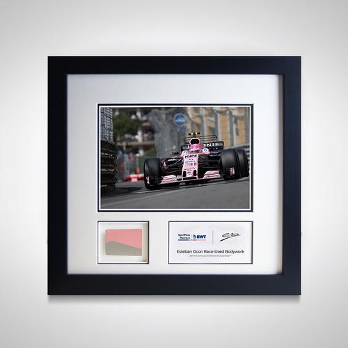 Photo of Esteban Ocon 2017 Monaco Grand Prix Photo and Piece of Car Bodywork - Sahara ...