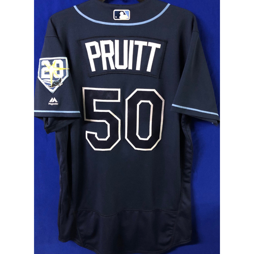 Photo of 20th Anniversary Game Used Jersey: Austin Pruitt - September 29, 2018 v TOR