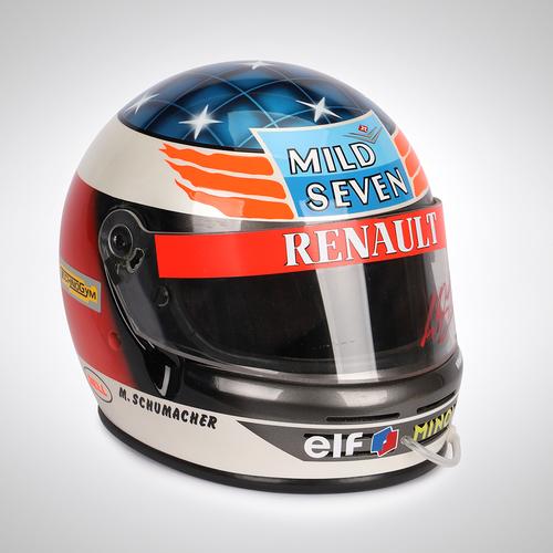 Photo of Michael Schumacher 1994 Signed Replica Helmet