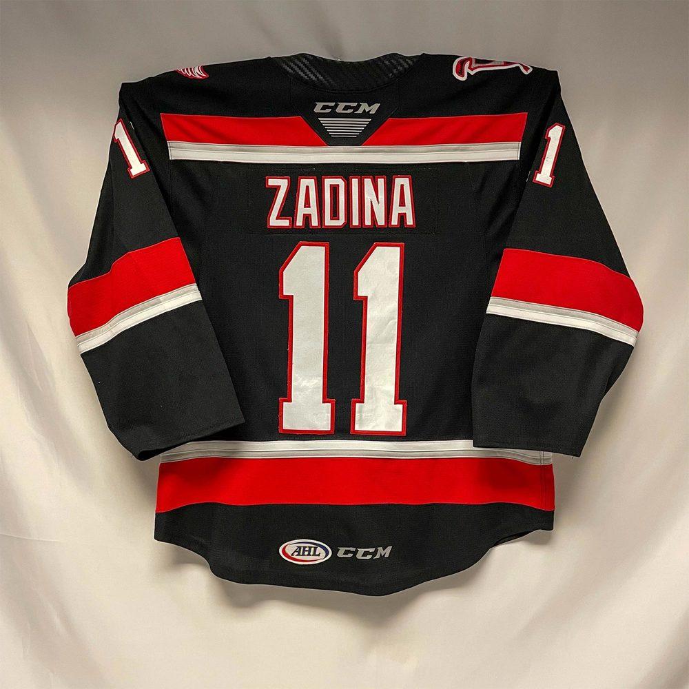 2019-20 Grand Rapids Griffins Regular Season Jersey Worn by #11 Filip Zadina