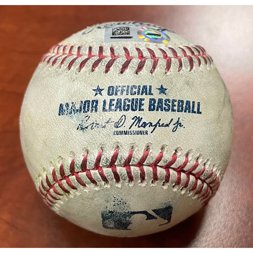 Photo of Game-Used Baseball: Pitcher - Jordan Weems | Batter - Mookie Betts Home Run (1) - Top 9 - 4/6/21 vs Dodgers