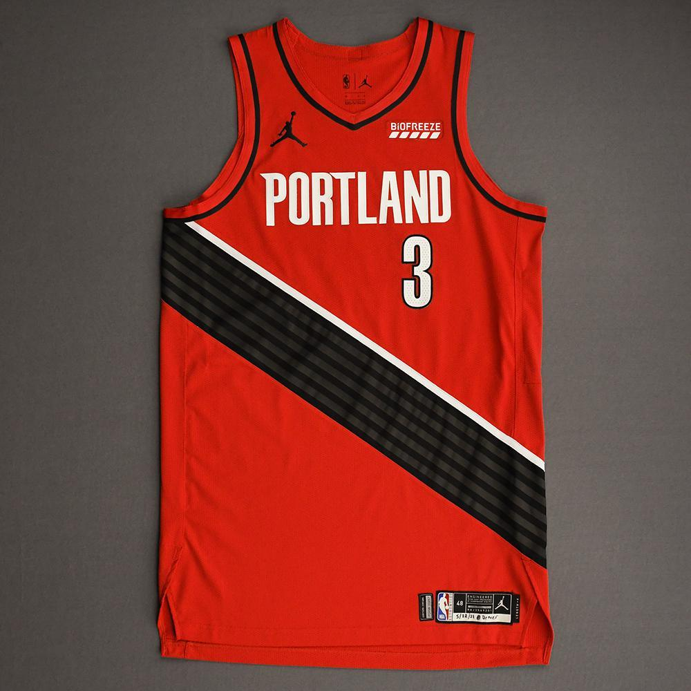 CJ McCollum - Portland Trail Blazers - Game-Worn Statement Edition Jersey - Scored 21 points - 2021 NBA Playoffs