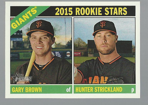 Photo of 2015 Topps Heritage #373 Gary Brown RC/Hunter Strickland RC