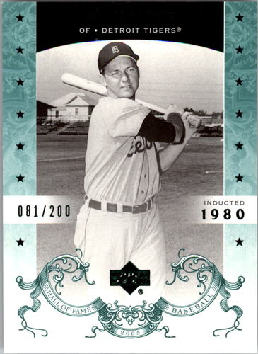 Photo of 2005 Upper Deck Hall of Fame Green #1 Al Kaline