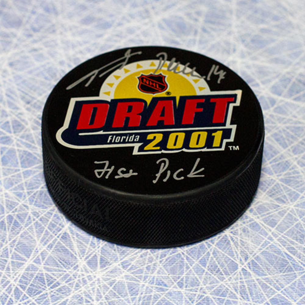 Tomas Plekanec Autographed 2001 NHL Draft Day Puck w 71st Pick Note *Montreal Canadiens*