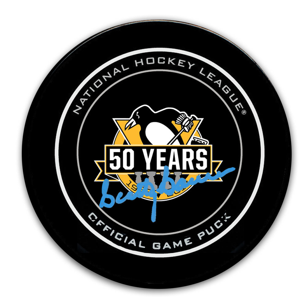 Scotty Bowman Pittsburgh Penguins 50th Anniversary Autographed Official Game Puck