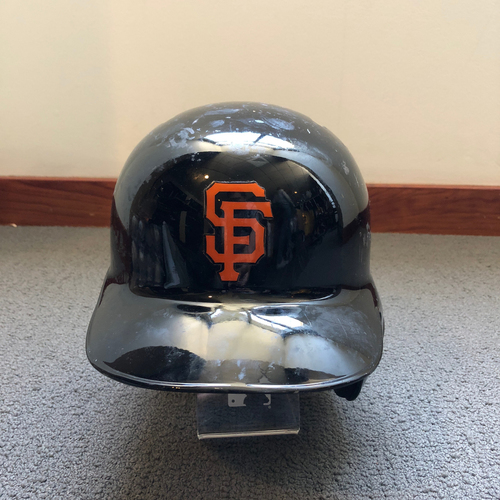 Photo of San Francisco Giants - Nick Hundley 2018 Spring Training Batting Helmet. Helmet Size - 7 3/8