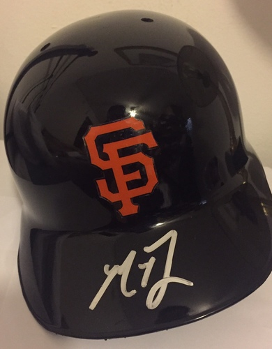 Photo of Madison Bumgarner Autographed Giants Helmet