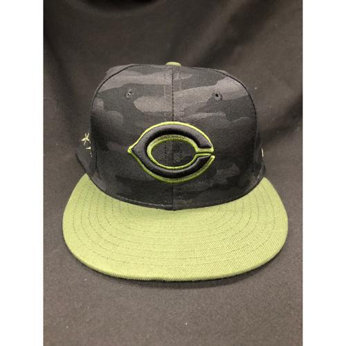 Photo of Tucker Barnhart -- Game-Used -- Memorial Day Hat (Worn: May 26-28, 2018)