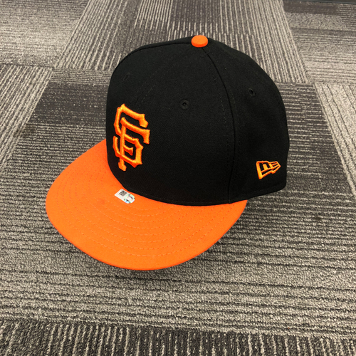 Photo of San Francisco Giants - 2018 Game Used Orange Bill Cap worn by #47 Dereck Rodriguez on 9/28/18 vs. LAD - Size 7 3/8