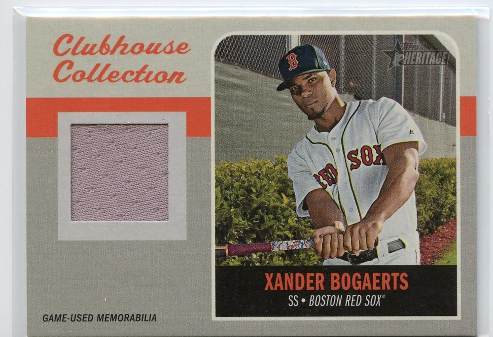 2019 Topps Heritage Clubhouse Collection Relics #CCRXB Xander Bogaerts