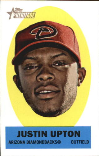 Photo of 2012 Topps Heritage Stick-Ons #26 Justin Upton