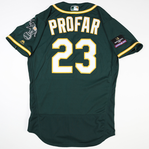 2019 Japan Opening Day Series - Game Used Jersey - Jurickson Profar, Oakland Athletics at Nippon Ham Fighters -3/17/2019